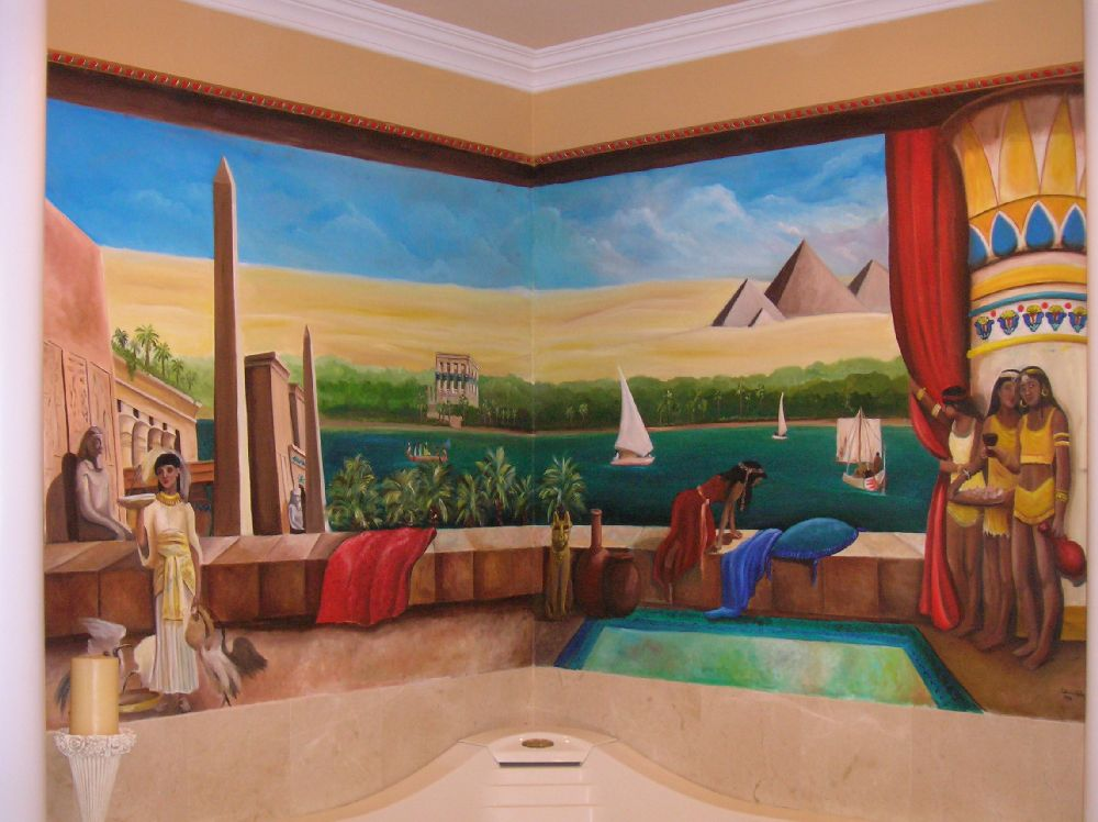 Egyptian wall art murals check out egyptian wall art for Egyptian wall mural